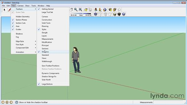 Adding toolbars: SketchUp 8 Essential Training