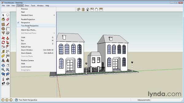 Creating camera views : SketchUp 8 Essential Training