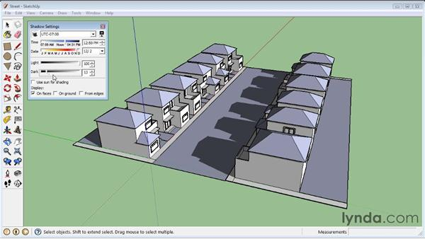 Creating shadows and fog : SketchUp 8 Essential Training