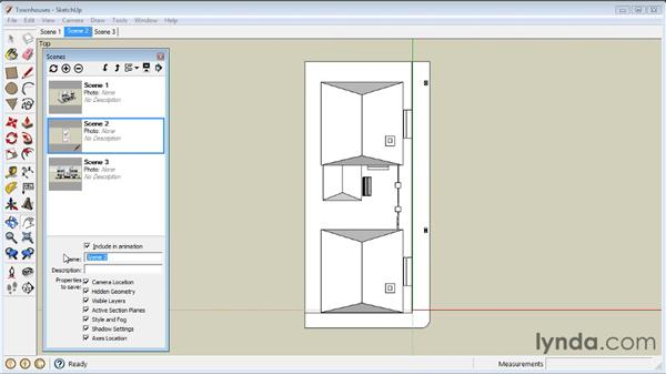 Creating Scenes: SketchUp 8 Essential Training