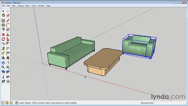 Selecting and moving objects : SketchUp 8 Essential Training