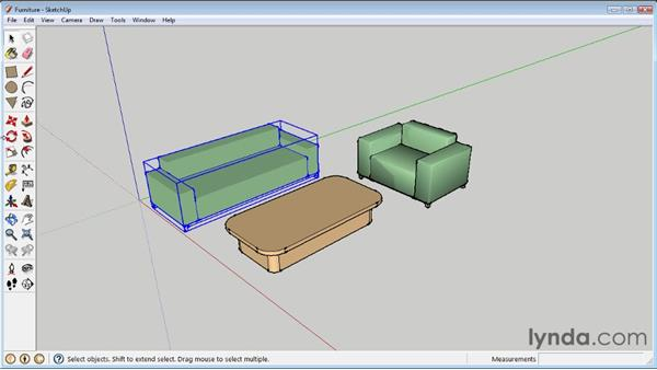 Scaling and rotating objects : SketchUp 8 Essential Training