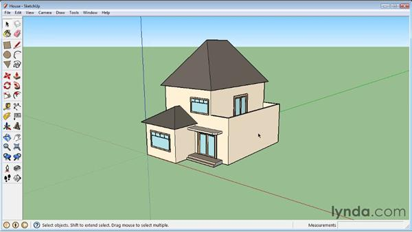 Manipulating faces and edges : SketchUp 8 Essential Training