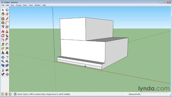 Pushing and pulling faces into 3D : SketchUp 8 Essential Training