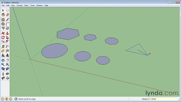 Creating circles and polygons : SketchUp 8 Essential Training
