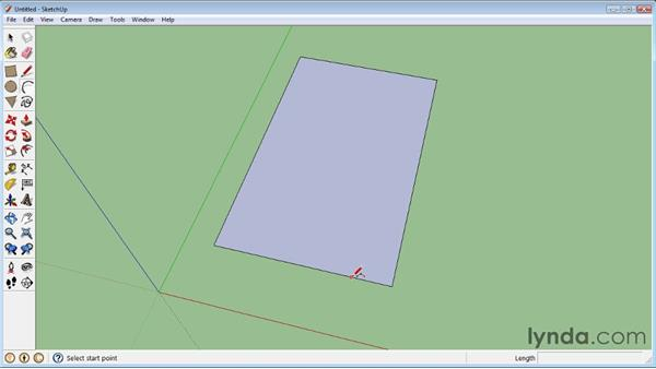 Creating arcs : SketchUp 8 Essential Training