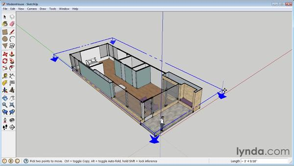 Creating sections : SketchUp 8 Essential Training