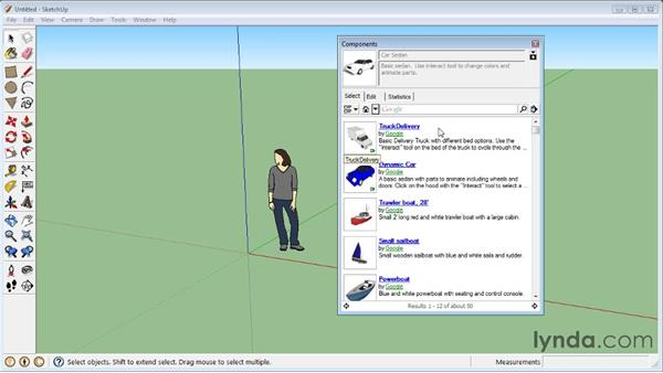 The Component window : SketchUp 8 Essential Training
