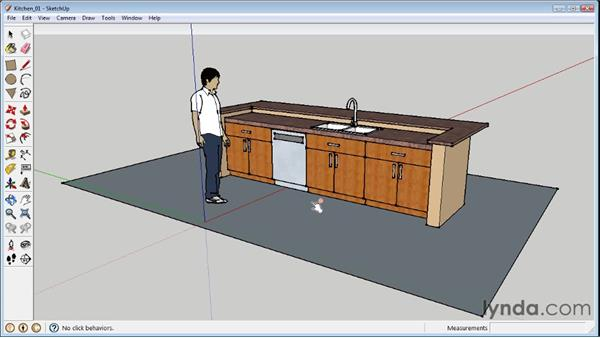 Using the Interact tool : SketchUp 8 Essential Training