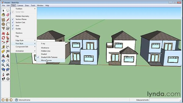 Grouping objects : SketchUp 8 Essential Training