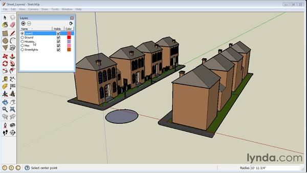 Working with layers : SketchUp 8 Essential Training