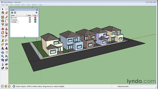 Creating layers : SketchUp 8 Essential Training