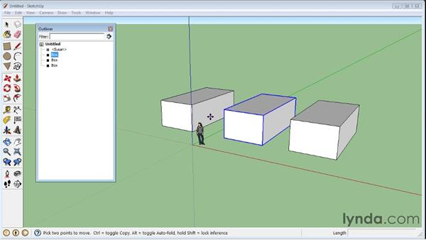 Using the Outliner : SketchUp 8 Essential Training