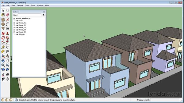 Hiding and unhiding objects : SketchUp 8 Essential Training