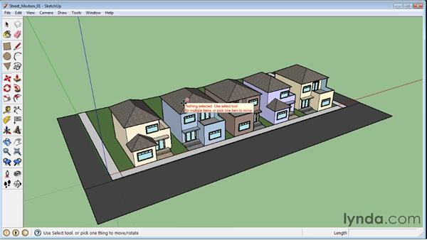 Locking and unlocking objects: SketchUp 8 Essential Training