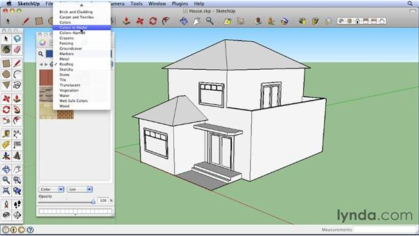 Using the Materials Browser on a Mac : SketchUp 8 Essential Training