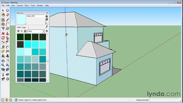 Applying materials : SketchUp 8 Essential Training