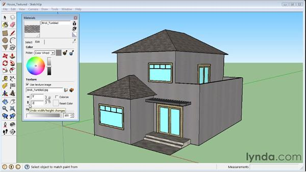Editing materials : SketchUp 8 Essential Training