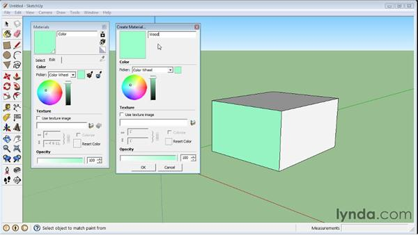 Creating materials : SketchUp 8 Essential Training