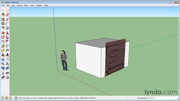 Applying bitmap images : SketchUp 8 Essential Training