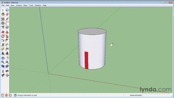 Mapping curved objects : SketchUp 8 Essential Training