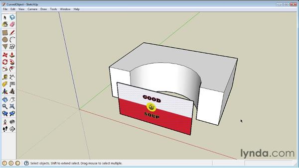 Projecting maps on curved objects: SketchUp 8 Essential Training