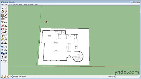 Importing floor plans: SketchUp 8 Essential Training