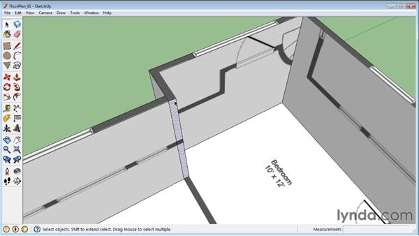 Modeling with floor plans: SketchUp 8 Essential Training