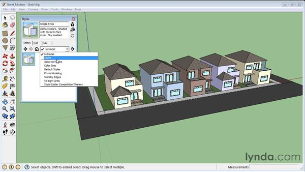 Applying styles : SketchUp 8 Essential Training