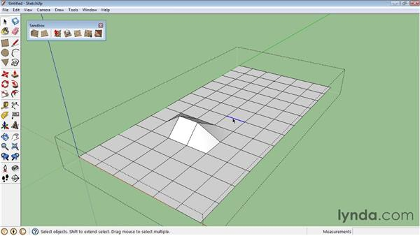 Creating terrain from scratch : SketchUp 8 Essential Training