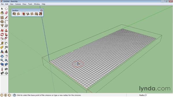 Sculpting with the Smoove tool : SketchUp 8 Essential Training