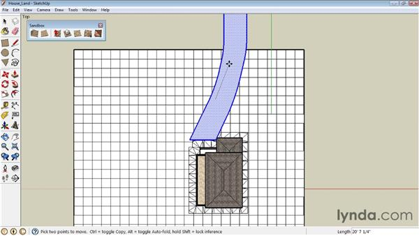 Stamping and draping objects on terrain : SketchUp 8 Essential Training