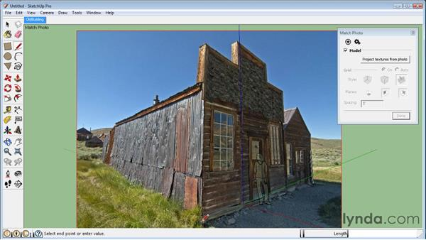 Modeling in Photo Match: SketchUp 8 Essential Training