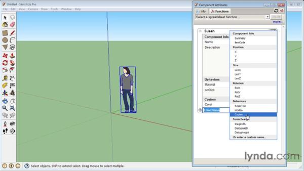 Using the Component Attributes window : SketchUp 8 Essential Training