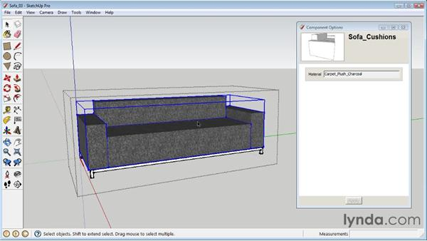 Creating dynamic materials : SketchUp 8 Essential Training