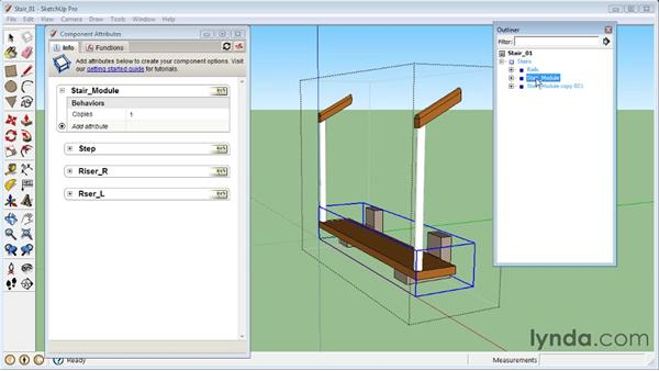 Creating a dynamic staircase: SketchUp 8 Essential Training