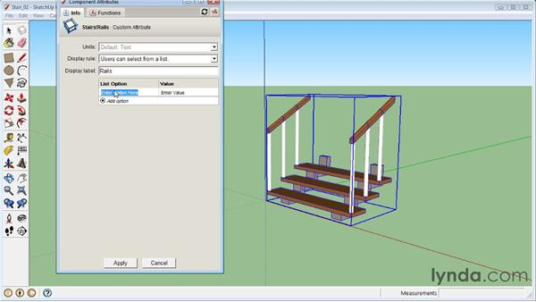 Hiding objects dynamically: SketchUp 8 Essential Training