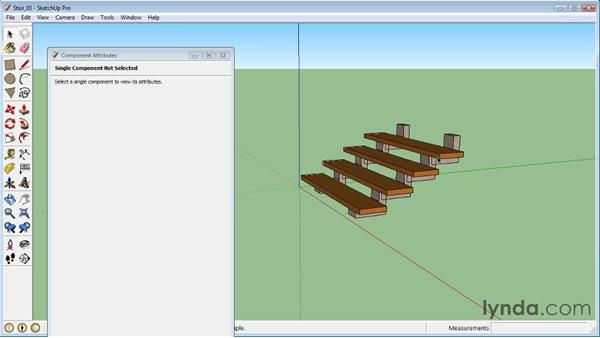 Configuring staircase rise and run : SketchUp 8 Essential Training