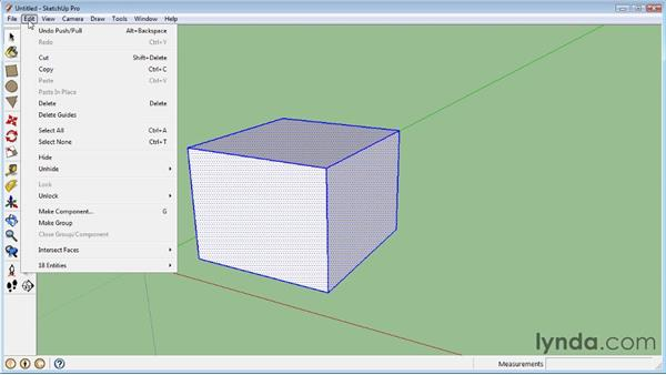 Creating solids: SketchUp 8 Essential Training