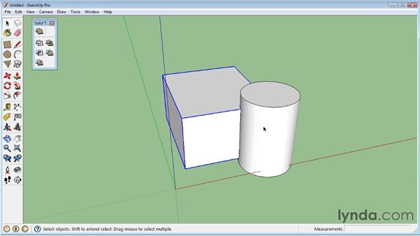 Working with Trim and Split: SketchUp 8 Essential Training