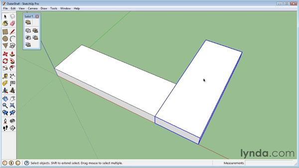Creating outer shells: SketchUp 8 Essential Training