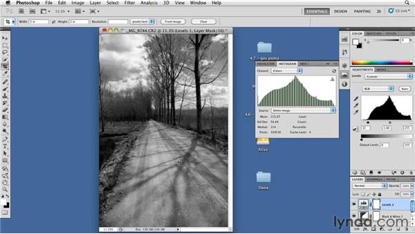 Making an advanced tonal correction: Foundations of Photography: Black and White