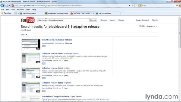 : Blackboard 9.x Essential Training for Instructors