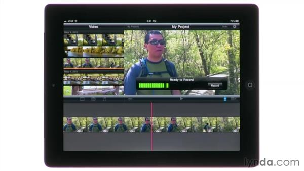 Exploring the interface on an iPad: iMovie for iPad Essential Training