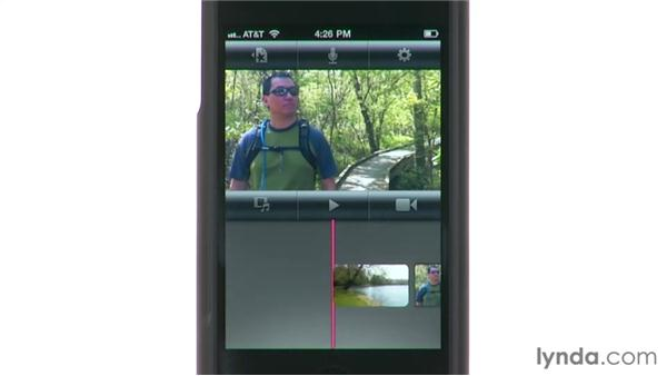Exploring the interface on an iPhone: iMovie for iPad Essential Training