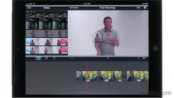 Deleting unneeded footage: iMovie for iPad Essential Training