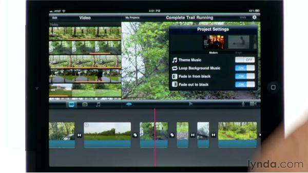 Creating a new project: iMovie for iPad Essential Training