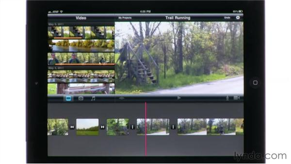Splitting clips: iMovie for iPad Essential Training