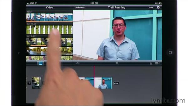 Rotating clips: iMovie for iPad Essential Training