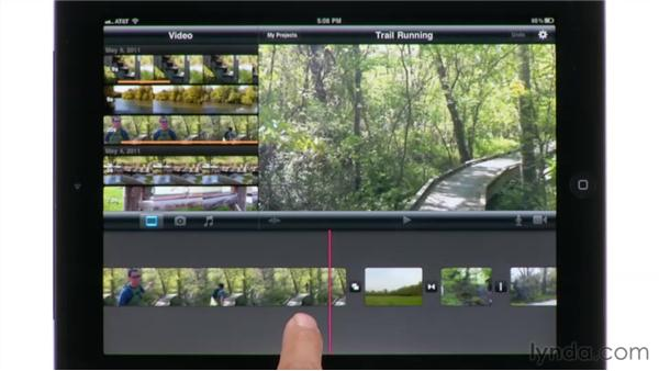 Adjusting transition effects between clips: iMovie for iPad Essential Training